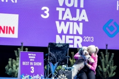 Ricky winning BIS-3 at Helsinki Winner show 2013 out of 6000 dogs